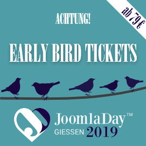 JoomlaDay 2019 am 13.09. – 14.09.2019 in Gießen | Freiticket zu verlosen