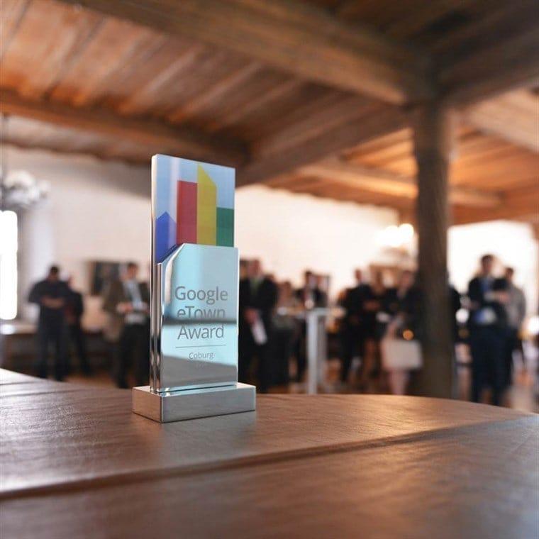 Coburg ist Gewinner des eTown Award 2014 im Postleitzahlgebiet 9